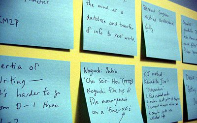 How to organize your office space using sticky notes