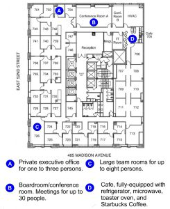 The Plaza District NYC Office Center - Floor Plan