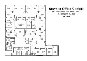 880 Third Avenue Office Space Floor Plan