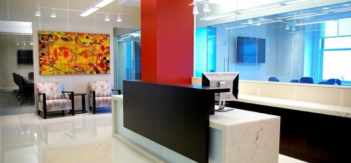 Receptionist office in Tribeca, New York.