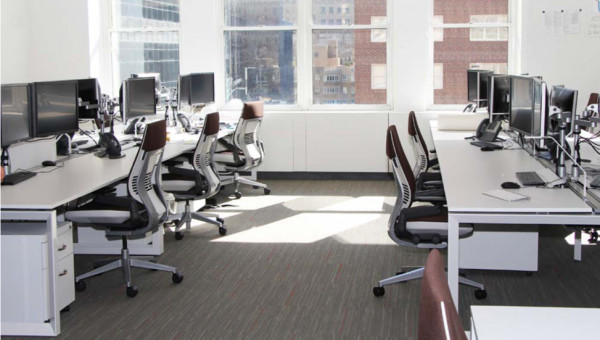 Shared office space in the Columbus Circle of Manhattan at 33 West 60th Street.