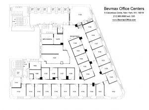 5 Columbus Circle Manhattan - Office Floor Plan
