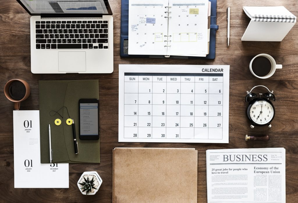 Freelance Tip #2: Regularly using a calendar or planner helps freelancers improve productivity.